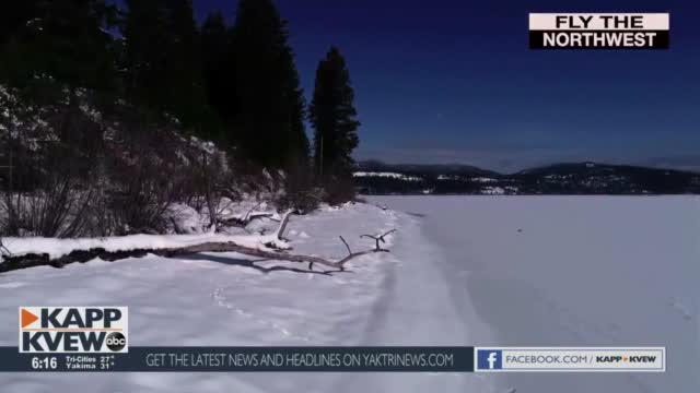 Fly The Northwest Frozen Lake Couer D' Alene