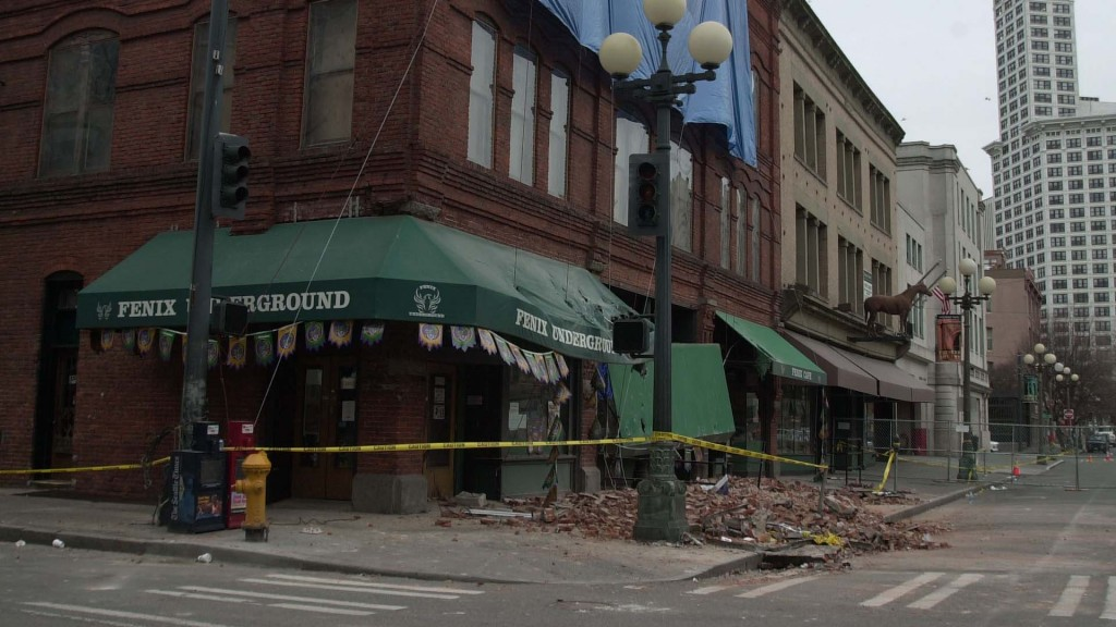 Nisqually earthquake quake Pioneer Square courtesy of King County