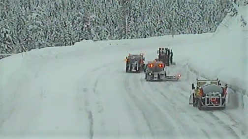 Snow plows Stevens Pass WSDOT