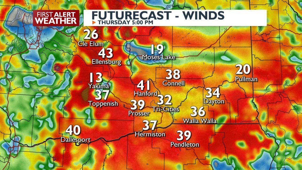 Wind Gusts Thursday