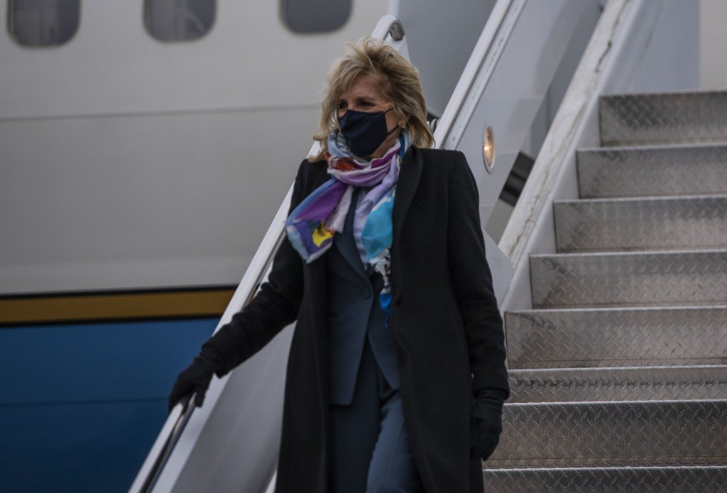 Jill Biden: Joint Base Lewis Mcchord Welcomes First Lady