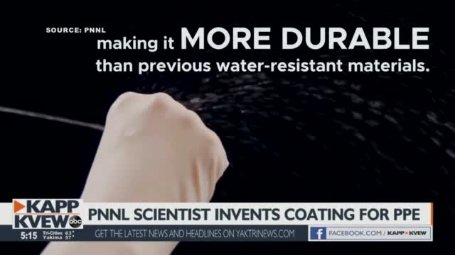 Pnnl Scientist Creates 'elastidry' A Water Repellent Coating That Could Protect Against Viruses