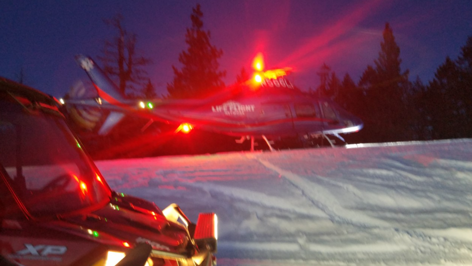Life Flight airlifts Walla Walla man after injured snowmobiling