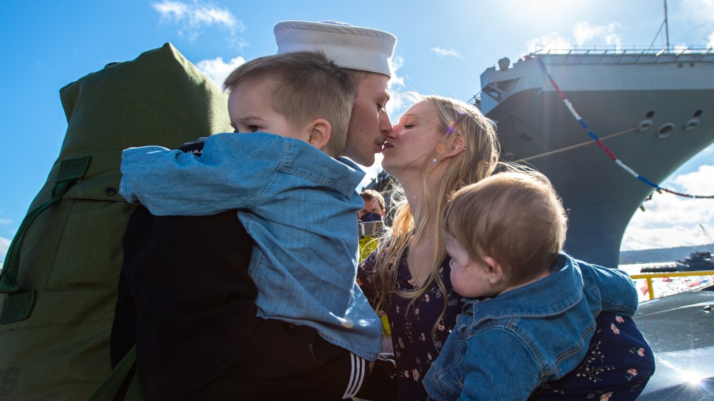 Nimitz Sailor Greets Spouse With Traditional First Kiss
