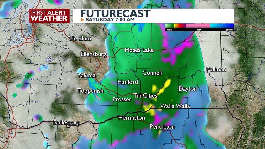 Saturday Rain Chance