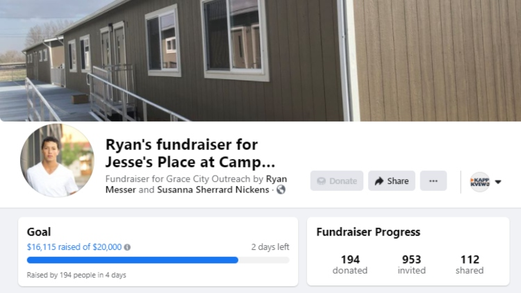 Ryans Fundraiser For Jesses Place At Camp Hope