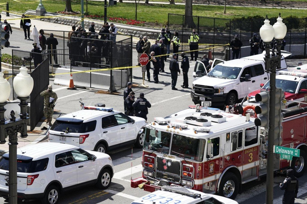 Car Rams Capitol Barricade, Injuring 2 Officers; Driver Shot