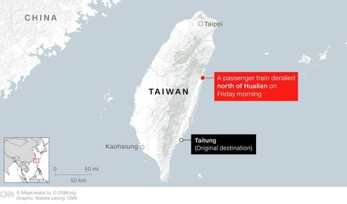 Passenger Train Carrying 490 Derails In Taiwan, Killing At Least 50 And Injuring Dozens