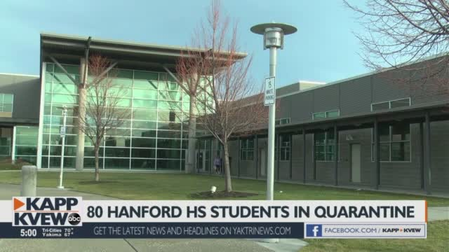 Dozens Of Students In Quarantine From Hanford High School