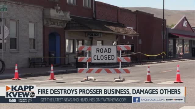 Prosser Theatre Recalls Close Call With Weekend Fire