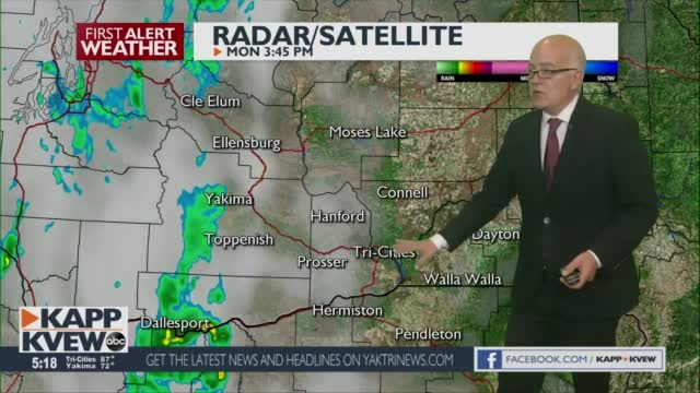 Evening Showers To T Storms Continue Into The Mid Columbia Through Tomorrow Morning Jason