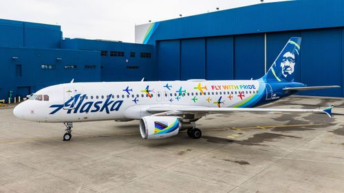 Alaska Airlines Reveals New Pride Themed Livery