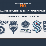 Washington vaccine incentives - Airline and Sport tickets