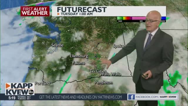 A Warming Trend Start Tomorrow, With Scattered Showers Possible Through Wednesday Jason