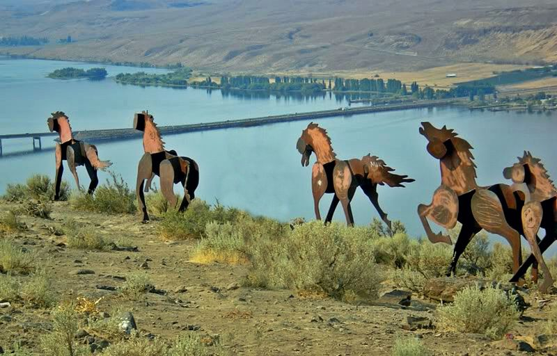Lanes Of Eastbound I 90 Closed Near Wild Horse Monument Due To Wildfire