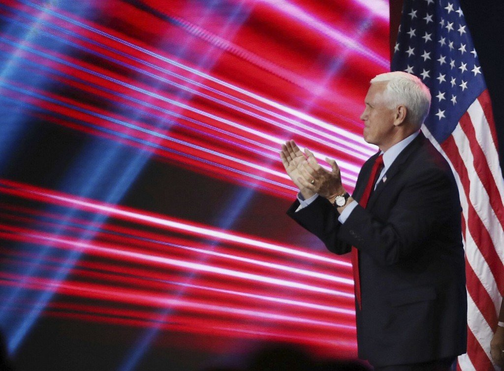Conservative Activists Heckle Pence At Conference In Florida