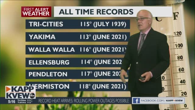 A Record Breaking Tuesday With Scorching Heat, But A Less Of It, For Your Wednesday