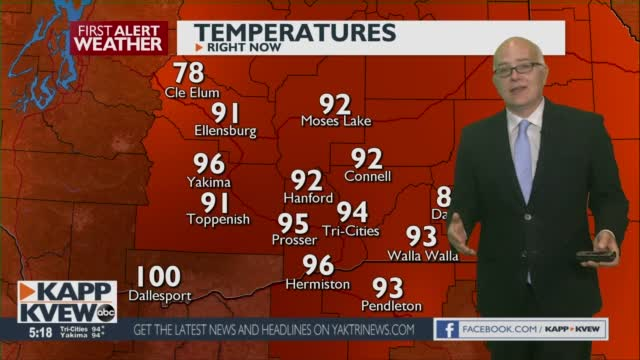 A Hot Tuesday Is On The Way, With 100 Degree Plus Temps On The Way! Jason