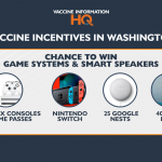 Washington vaccine incentives - Game systems and Smart Speakers