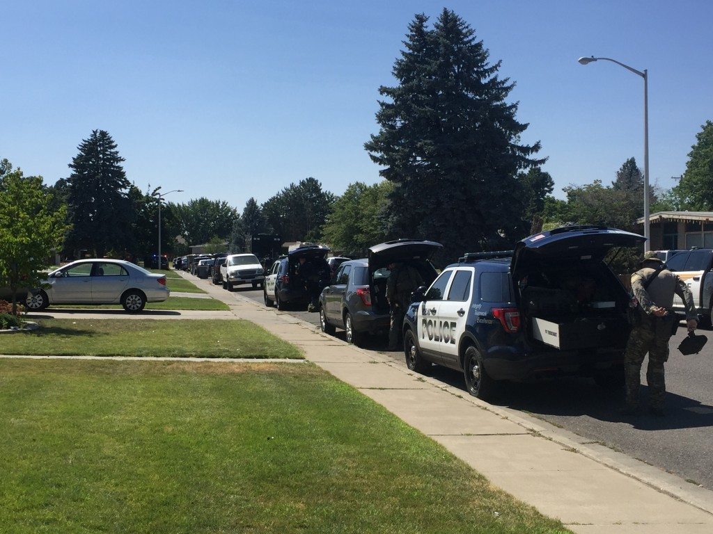 Officers getting ready for SWAT standoff