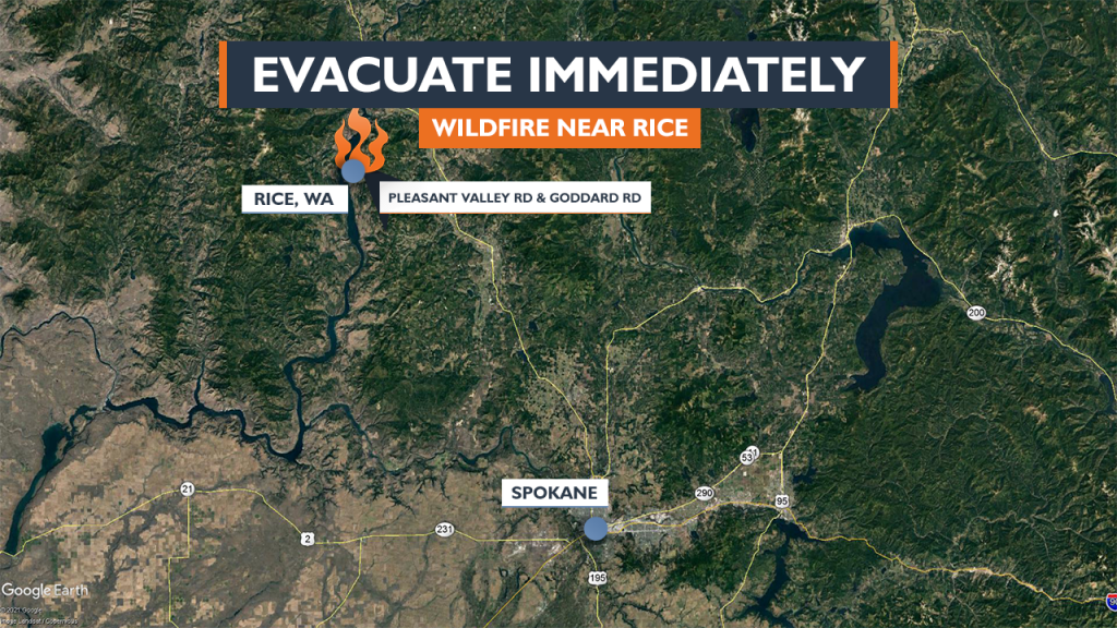 Fire Forces People Living Near Rice In Stevens County To Evacuate