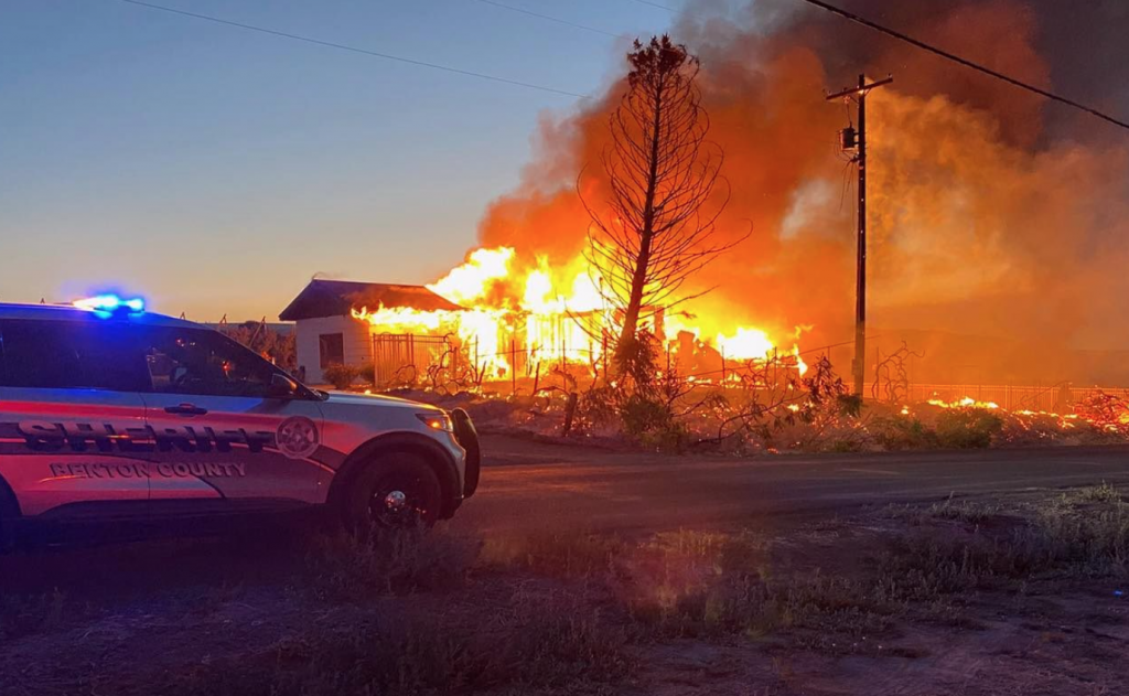 Home in Benton County engulfed in flames