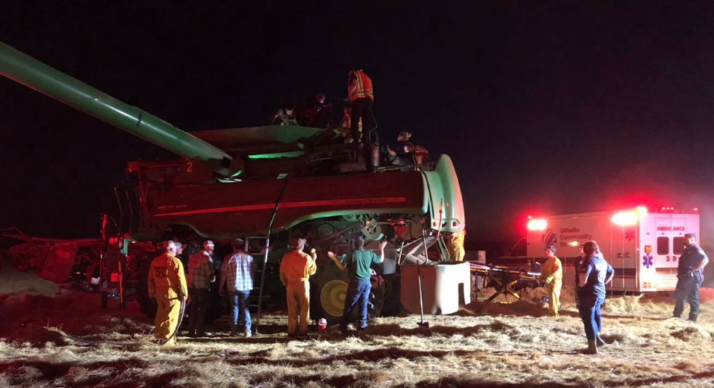 Franklin County Sheriff's Office assists Adams County to free man caught inside combine