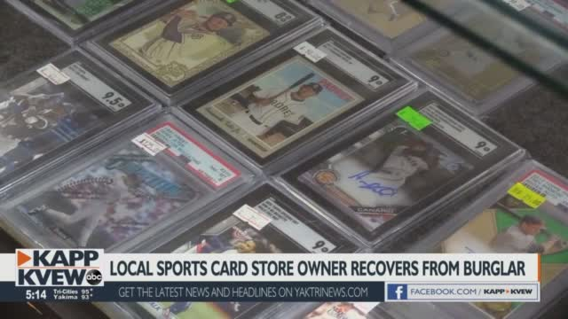 Kennewick Sports Card Store Owner Recovers From Burglary