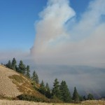 Lick Creek Fire, formerly Dry Gulch Fire, photographed 7/8/21
