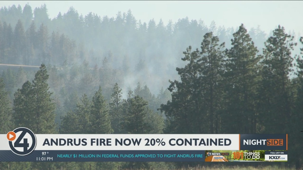 Andrus Fire Now 20% Contained