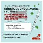 BFHD discontinues vaccine clinic at CBC West, pop-ups
