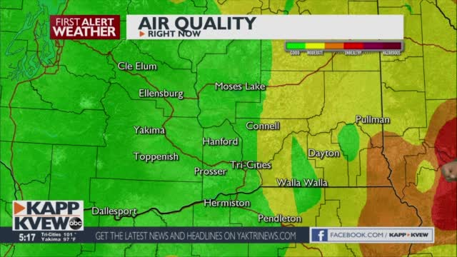 Heat Advisory, And Smoke Is Starting To Build Throughout Our Areas Jason