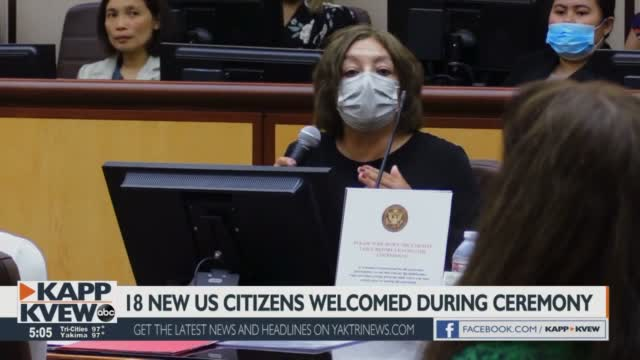 18 New American Citizen Sworn In At Richland Courthouse