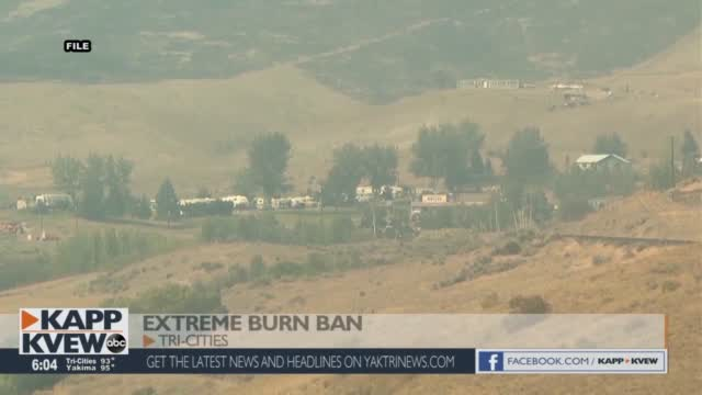 Extreme Burn Ban In Effect