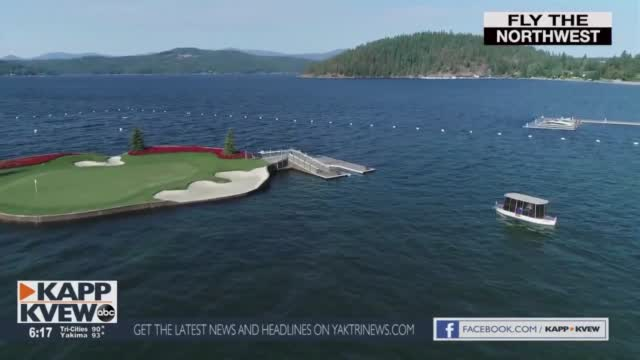 Fly The Northwest The Floating Green At The Coeur D' Alene Resort