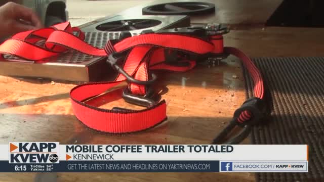 'this Was My Dream': Kennewick Family's Mobile Coffee Trailer Totaled Overnight