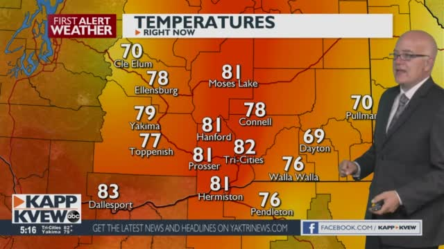 A Warm Weekend Is On The Way With An Air Quality Alert Continuing For Yakima Jason