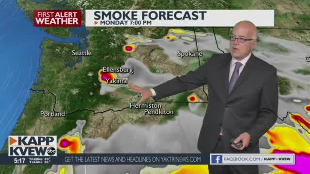 More Sun And Heat For Our Areas Through Thursday, With More Smoke Expected In The Yakima Valley Jason