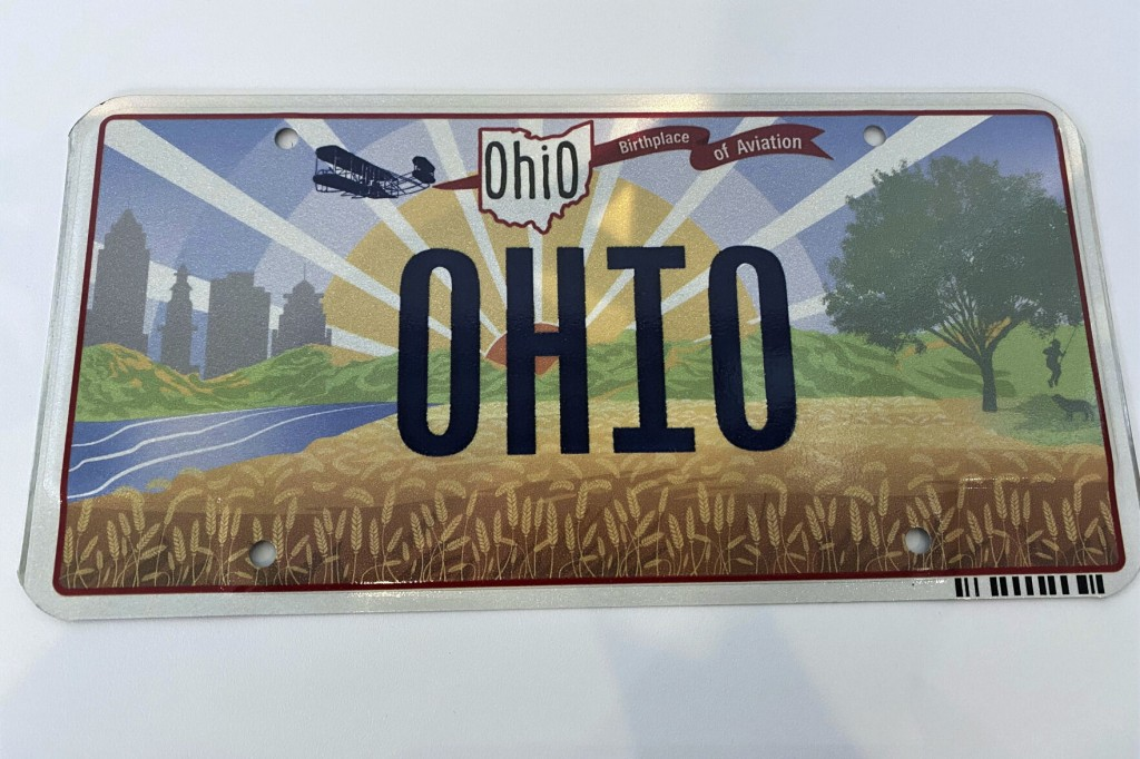 Wright Brothers, Wrong Design: Ohio Mangles License Plate