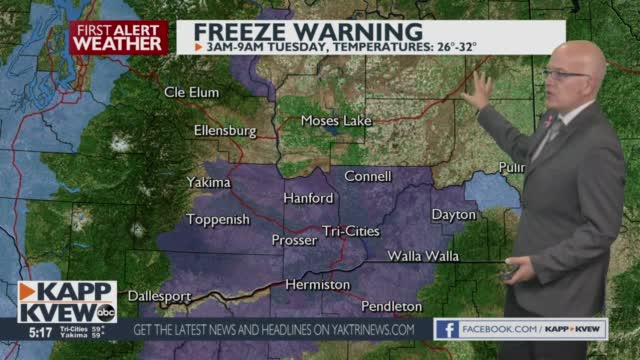 A Freeze Warning For Most Of Our Cities Overnight. Get Ready For Frost On Your Car For Your Tuesday Morning Jason